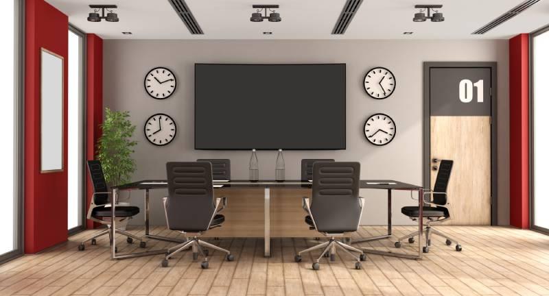 mettre un écran en salle de conférence